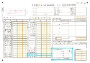 白色申告書の収支内訳書への事業専従者控除の記載箇所